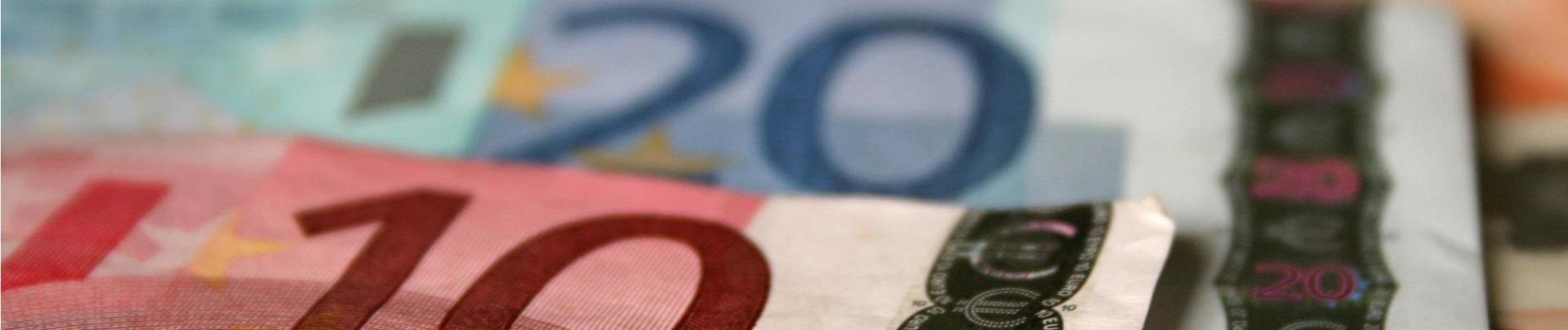 euro biletten tien twintig en vijftig